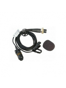 MIPRO MU53L Lapel Microphone for Bodypack Transmitters. Compact 10mm Cardioid Condenser Microphone with 1.5m cable terminated in 4-pin mini XLR to suit all