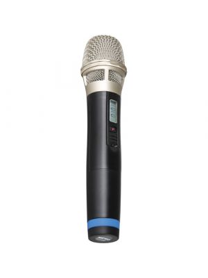 MIPRO ACT32H-6 Handheld Transmitter with Supercardioid Condenser capsule. LCD Status Screen. Runs on 2 x AA batteries. 6B frequency band.