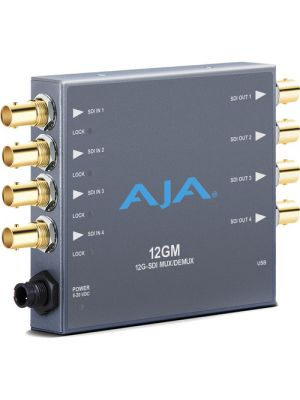 AJA 12GM 12G-SD SDI from/to SDI Muxer and Demuxer