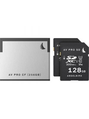 Angelbird 256GB AVpro CFast 2.0 Card + 2 x 128GB Matched AVpro SD Cards for Canon C200