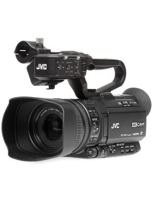 JVC GY-HM250E UHD 4K Streaming Camcorder with Built-in Lower-Thirds Graphics