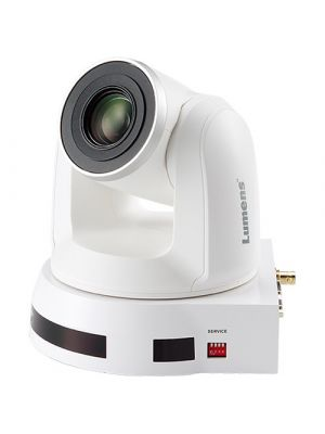 LUMENS VC-A70HW PTZ Camera • 10x Optical Zoom • 4k HDBaseT Output (White)