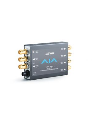 AJA 3GDA Relocking 1x6 3G/HD/SD Distribution Amplifier with Power Supply
