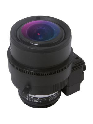 Marshall Electronics 3MP 2.8-8mm 2.8x Zoom f/1.2 Fujinon Varifocal CS-Mount Lens with Manual Iris Control (VS-M288-M-IRIS)