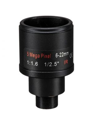 Marshall Electronics 5MP 6-22mm f/1.6 M12 IR Varifocal CS-Mount Lens (CV-0622-5MP)