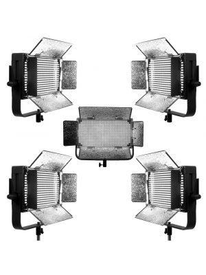 Ikan IDMX500-5PK Studio Light w/Touchscreen w/DMX Control (5 Pack)