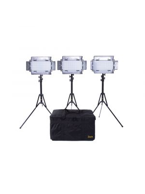 Ikan IB508-V2-KIT with 3 x IB508-v2 Bi-Colour LED Studio Lights