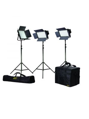 Ikan IFB2511 Featherweight Bi-Color Light Kit w/ 2 x IFB576 + 1 x IFB1024 w/ AB & V-Mount 