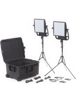 Litepanels Astra 6X Traveler Bi-Color Duo 2-LED Panel Kit with Gold Mount Battery Brackets