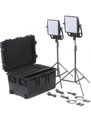 Litepanels Astra 6X Traveler Bi-Color Duo 2-LED Panel Kit with V-Mount Battery Plates