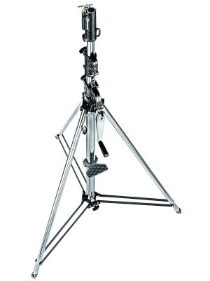 Manfrotto 087NW Wind-Up Light Stand (Chrome-plated, 370cm)