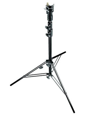 Manfrotto 007BUAC Senior Air-Cushioned Stand with Leveling Leg (Black, 3.15m)