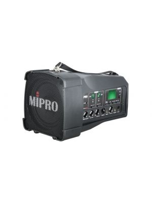 MIPRO MA100DB-5 Portable PA, 50 Watts with Bluetooth audio player, USB Music Player/Recorder and Dual Wireless Mic Receivers with Auto Scan and ACT Sync. 5inch ful