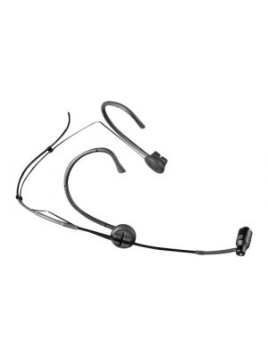 MIPRO MU53HN Headworn Microphone. Cardioid Condenser Microphone with 1.5m cable terminated in 4-pin mini XLR to suit all MIPRO bodypacks. Black.