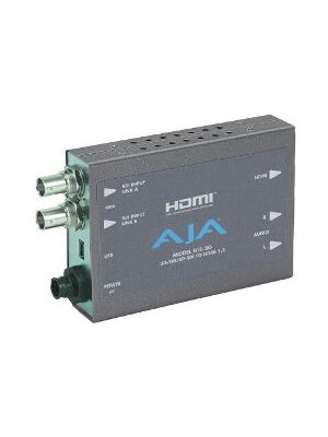 AJA Hi5-3G 3G/HD/SD-SDI to HDMI Video and Audio Converter with Power Supply