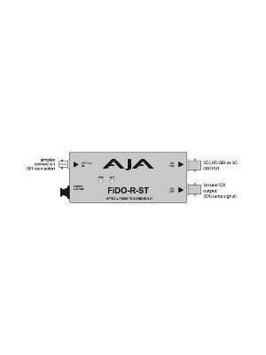 AJA FiDO-R-ST Single Channel ST Fiber to SDI Converter with Dual SDI Outputs and Power Supply
