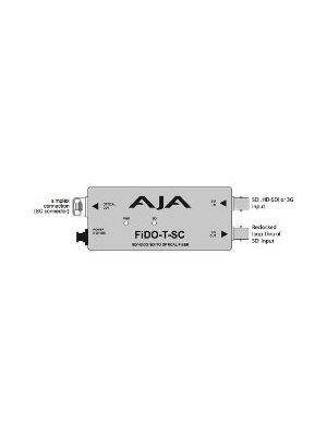 AJA FiDO-T-SC Single Channel SDI to SC Fiber Converter with Looping SDI Output and Power Supply