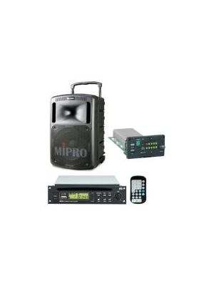 MIPRO MA808CDMB-5 Portable PA with Bluetooth, Wireless Mic Receiver and CD/USB Player, 265 Watts Biamped