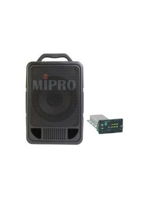 MIPRO MA705PAM-5 Portable PA, 70 Watts with Wireless Mic Receiver. 8inch full range speaker. Integrated dual gel cell batteries. XLR/6.35mm Combo Mic Input.
