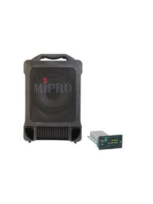 MIPRO MA707PAM-5 Portable PA, 100 Watts with Wireless Mic Receiver. 8inch full range speaker. Integrated dual gel cell batteries. XLR and 6.35mm Mic Inputs.