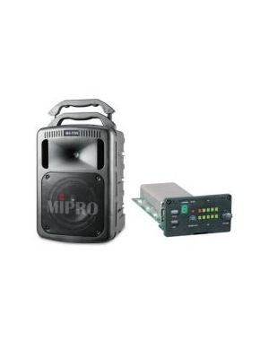 MIPRO MA708PAMB-5 Portable PA, 190 Watts with Bluetooth and Wireless Mic Receiver. 8inch woofer, 1inch compression driver. Integrated dual gel cell batteries.