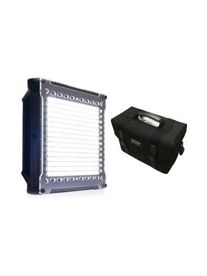 Cineroid LM400 High Output Vari-colour High Density LED Light Kit (inc Light, AC Adaptor, Barn Door, Yoke, Diffuser, Carry Bag)