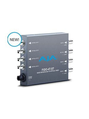 AJA FiDO-4T-ST Quad Channel 3G-SDI to ST Fiber Mini Converter