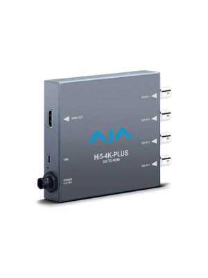 AJA Hi5-4K-Plus 4K/UltraHD 4 x 3G-SDI to 4K HDMI 2.0 with 60p support, also supports HD-SDI to HD HDMI