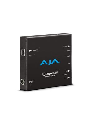 AJA RovoRX-HDMI HDBaseT to HDMI (w/ PoH), also facilitates power/display/control/interface to RovoCam