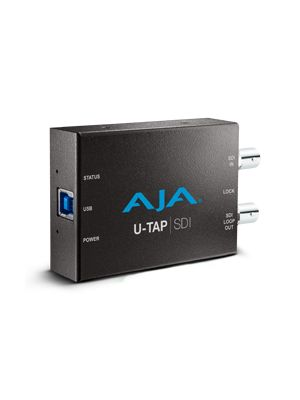 AJA U-TAP-SDI HD/SD USB 3.0 capture device for Mac/Windows/Linux with 3G-SDI input. Bus powered, no driver software necessary.