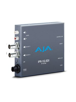 AJA JPEG 2000/SDI IP Video and Audio to 3G-SDI Mini-Converter