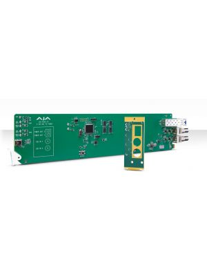 AJA OG-FiDO-2T OpenGear 2-Channel 3G-SDI to Single Mode LC Fiber Transmitter with DashBoard Support