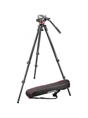 ManfrottoMVH502A Fluid Head and 535 CF Tripod System with Carrying Bag