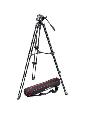 ManfrottoMVH500A Fluid Drag Video Head with MVT502AM Tripod and Carry Bag