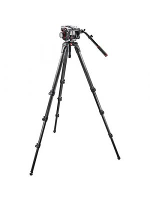 Manfrotto 536 Carbon Fiber Tripod with 509HD Video Head and Padded Carry Bag
