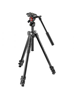 Manfrotto 290 Light 2-Stage Aluminum Tripod for Befree Live Fluid Video Head Kit