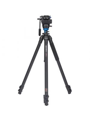 Benro Aero4 Travel Angel Video Tripod Kit - A2883F with Leveling Column & S4 Head