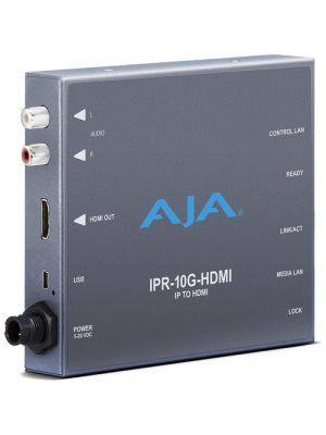 AJA Single Channel SMPTE 2110 Video and Audio IP Decoder to HDMI 1.4b (HD)