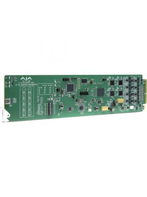 AJA OpenGear 3G-SDI 4-Ch Analog Audio Embedder/Disembedder, Balanced XLR, DashBoard Support