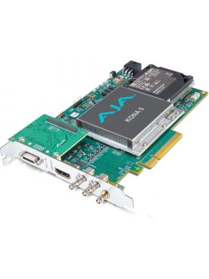 AJA KONA-5-R0-S01 12G-SDI I/O, 10-bit 4K Capture & Playback Card, HDMI 2.0 output w/ HFR support (PCIe power)