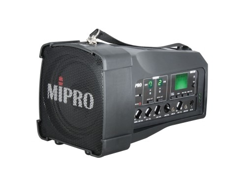 MIPRO MA100DB-5 Portable PA, 50 Watts with Bluetooth audio player, USB Music Player/Recorder and Dual Wireless Mic Receivers with Auto Scan and ACT Sync