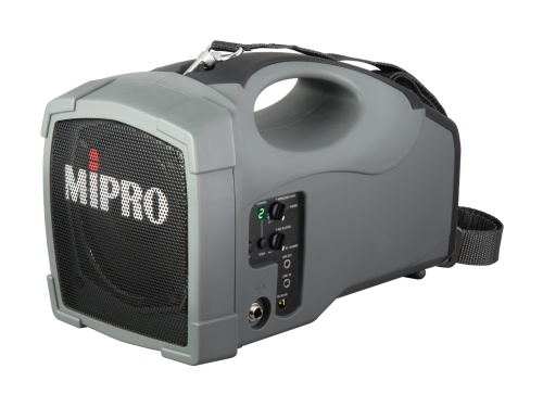 MIPRO MA101B-5 Portable PA with Wireless Receiver, 45 Watts with integrated rechargeable battery. Receiver features Auto Scan and ACT Sync. 5inch full range speak