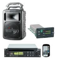MIPRO MA708CDMB-5 Portable PA, 190 Watts with Bluetooth and Wireless Mic Receiver and CD/USD Player Module. 8inch woofer, 1inch compression driver. Integrated dual gel batteries.