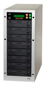 Evocept CopyBlast Ultimate 7-Drive 15x BD/DVD/CD Duplicator with 2TB Hard Drive
